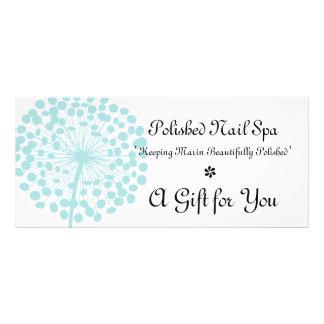 Blue Dandelion Flower Gift Certificate Rack Card Design