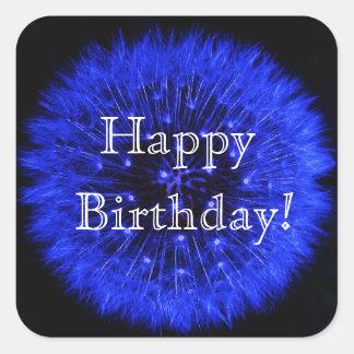 Blue Dandelion Happy Birthday Sticker