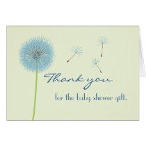 Blue Dandelion Thank You Card