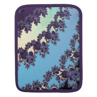 Blue Dangling Fractal Stripes Monogrammed iPad Sleeves