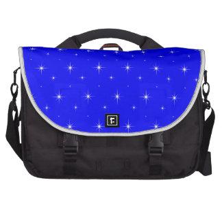 Blue-Dark-And-Bright-Stars-Elegant-Pattern Commuter Bag