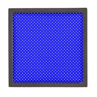 Blue-Dark And-White-Polka-Dots Jewelry Box