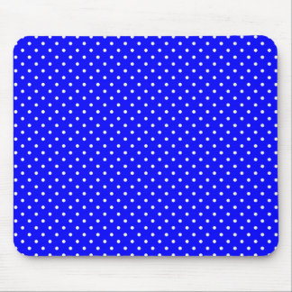 Blue-Dark And-White-Polka-Dots Mouse Pad