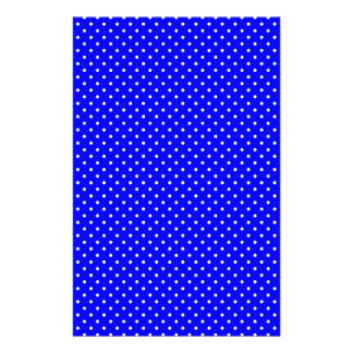 Blue-Dark And-White-Polka-Dots Custom Stationery