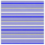 [ Thumbnail: Blue, Dark Grey & Lavender Striped Pattern Fabric ]