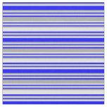 [ Thumbnail: Blue, Dark Grey & Lavender Striped Pattern Fabric ]