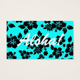 Blue Dark Hawaiian Business Card
