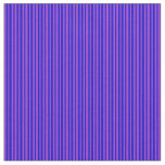 [ Thumbnail: Blue & Dark Orchid Colored Striped Pattern Fabric ]