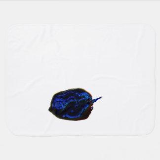 blue dark pepper at bottom food image swaddle blanket