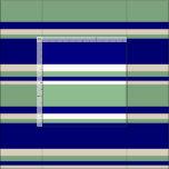 [ Thumbnail: Blue, Dark Sea Green & Beige Colored Pattern Fabric ]