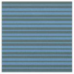 [ Thumbnail: Blue & Dark Slate Gray Colored Striped Pattern Fabric ]