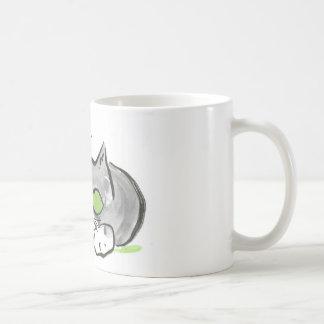 Blue Darning Needle and Gray Kitten Coffee Mug