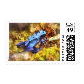 Blue Dart Frog Postage