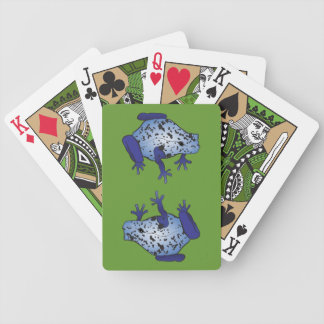 Blue Dart Frogs Bicycle Playing Cards