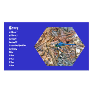 Blue Dasher Dragonfly Items Business Card