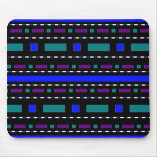 Blue Dashes & Dots Mouse Pad
