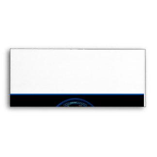 Blue Dashlight on Black Border Envelope