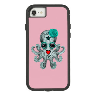 Blue Day of the Dead Baby Octopus Case-Mate Tough Extreme iPhone 7 Case