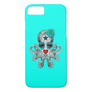 Blue Day of the Dead Baby Octopus iPhone 7 Case