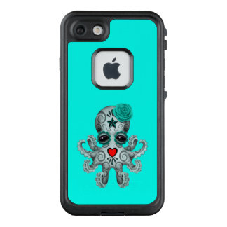 Blue Day of the Dead Baby Octopus LifeProof FRĒ iPhone 7 Case