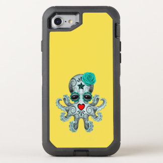 Blue Day of the Dead Baby Octopus OtterBox Defender iPhone 7 Case