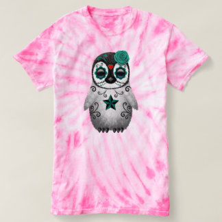 Blue Day of the Dead Baby Penguin T-shirt