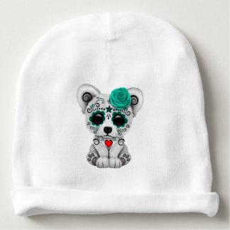 Blue Day of the Dead Baby Polar Bear Baby Beanie