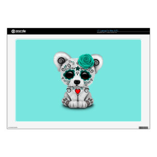Blue Day of the Dead Baby Polar Bear Laptop Skin