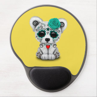 Blue Day of the Dead Baby Puppy Dog Gel Mouse Pad
