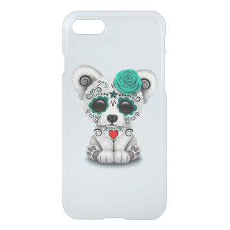 Blue Day of the Dead Baby Puppy Dog iPhone 8/7 Case