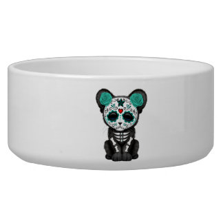 Blue Day of the Dead Black Panther Cub Bowl