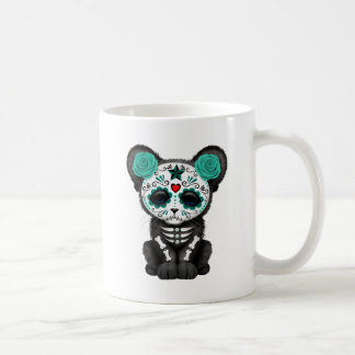 Blue Day of the Dead Black Panther Cub Coffee Mug