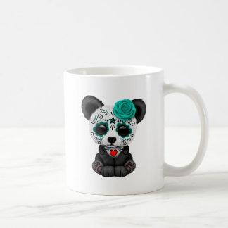 Blue Day of the Dead Panda Cub Coffee Mug