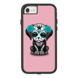 Blue Day of the Dead Puppy Dog Case-Mate Tough Extreme iPhone 8/7 Case