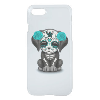 Blue Day of the Dead Puppy Dog iPhone 8/7 Case