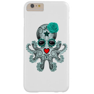 Blue Day of the Dead Sugar Skull Baby Octopus Barely There iPhone 6 Plus Case