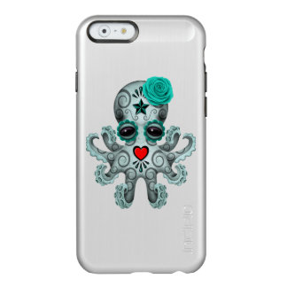 Blue Day of the Dead Sugar Skull Baby Octopus Incipio Feather Shine iPhone 6 Case