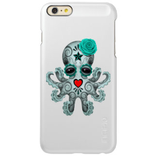 Blue Day of the Dead Sugar Skull Baby Octopus Incipio Feather Shine iPhone 6 Plus Case