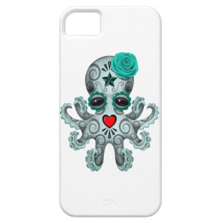 Blue Day of the Dead Sugar Skull Baby Octopus iPhone SE/5/5s Case