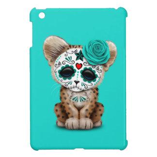 Blue Day of the Dead Sugar Skull Leopard Cub Case For The iPad Mini