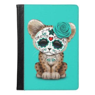 Blue Day of the Dead Sugar Skull Leopard Cub iPad Air Case