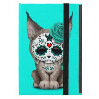 Blue Day of the Dead Sugar Skull Lynx Cub Case For iPad Mini