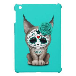 Blue Day of the Dead Sugar Skull Lynx Cub Case For The iPad Mini