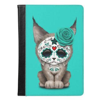 Blue Day of the Dead Sugar Skull Lynx Cub iPad Air Case