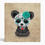 Blue Day of the Dead Sugar Skull Panda Aged Binder