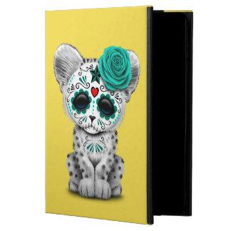 Blue Day of the Dead Sugar Skull Snow Leopard Cub Powis iPad Air 2 Case