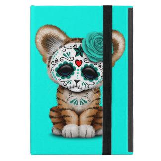 Blue Day of the Dead Sugar Skull Tiger Cub Case For iPad Mini