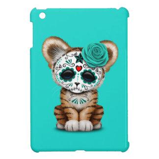 Blue Day of the Dead Sugar Skull Tiger Cub Case For The iPad Mini