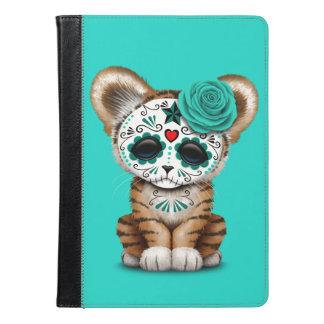 Blue Day of the Dead Sugar Skull Tiger Cub iPad Air Case