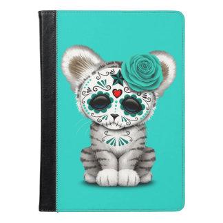 Blue Day of the Dead Sugar Skull White Tiger Cub iPad Air Case